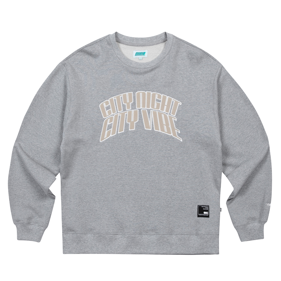 마크엠(MARKM) City Arch Crewneck Grey Melange